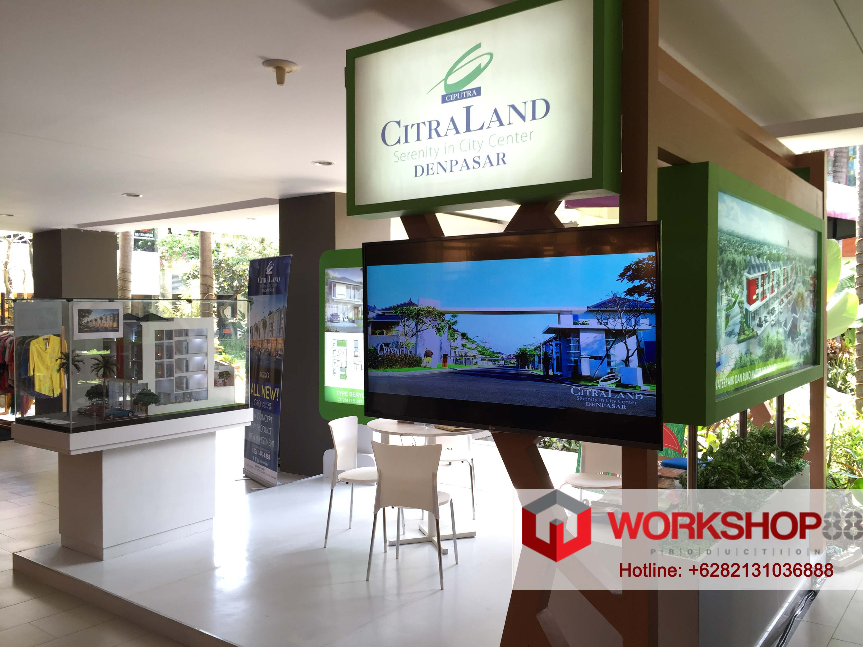 Property Exhibition Booth : Booth stand contractor bali citraland property exhibition